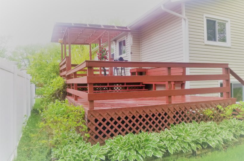 2921 Williams Drive Woodridge IL Back Deck